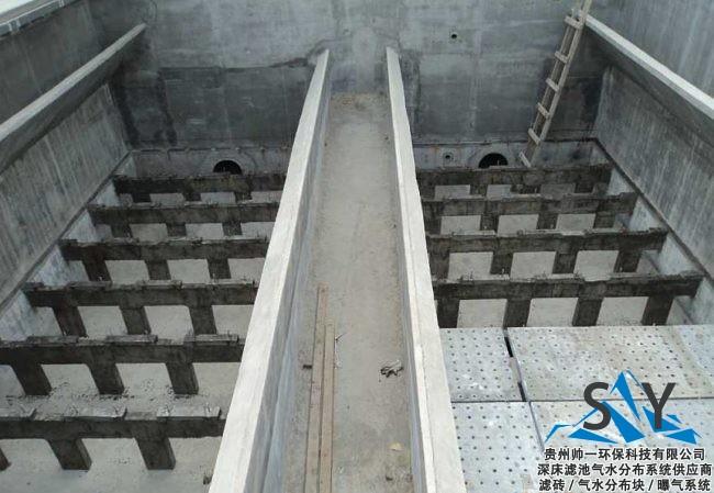 3e1c9ebf57d4c7bc7c786639506c5b87 - 气水反冲洗技术(滤板+长柄滤帽)(滤砖/气水分布块)在滤池中的应用